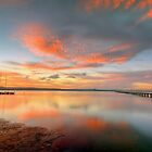 Sunset at Long Jetty. by Julie  White