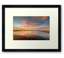 Sunset at Long Jetty. Framed Print