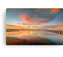 Sunset at Long Jetty. Canvas Print