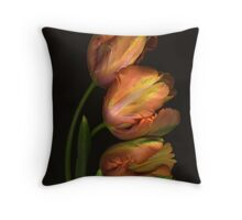 Really Big Parrot Tulips Throw Pillow