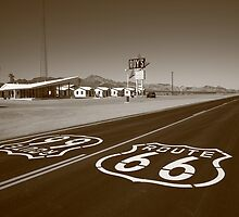 Route 66 - Amboy, California by Frank Romeo