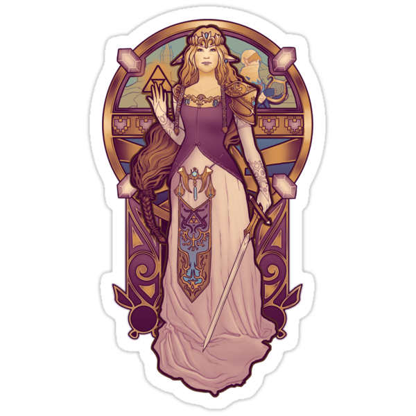 Hylian Nouveau - STICKER by MeganLara