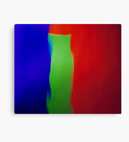 Blue Green Red Canvas Print