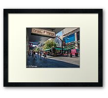 Rundle Mall - Looking down the Mall  Framed Print