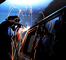 Welding #4 by Tom Blanche