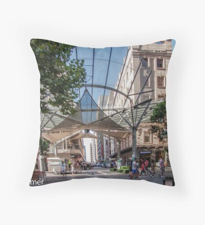 Rundle Mall - The Real centre of the Mall Throw Pillow
