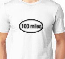100 miles Oval Unisex T-Shirt