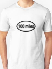 100 miles Oval T-Shirt