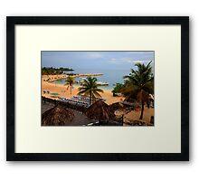 Jamaican Coast Framed Print