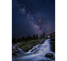 Waterfall at night Photographic Print