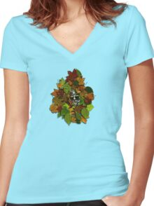 GreenMan t-shirt Women's Fitted V-Neck T-Shirt