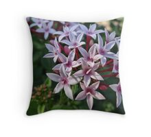 Pink Flora Throw Pillow
