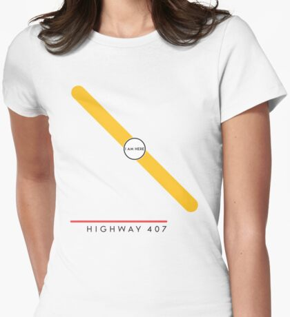 Highway 407 station Womens Fitted T-Shirt
