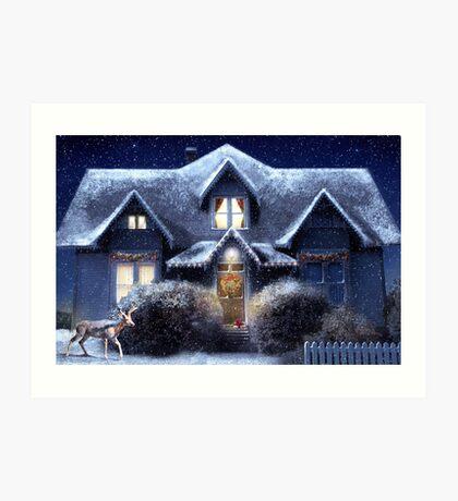 Quiet Winter Night Art Print