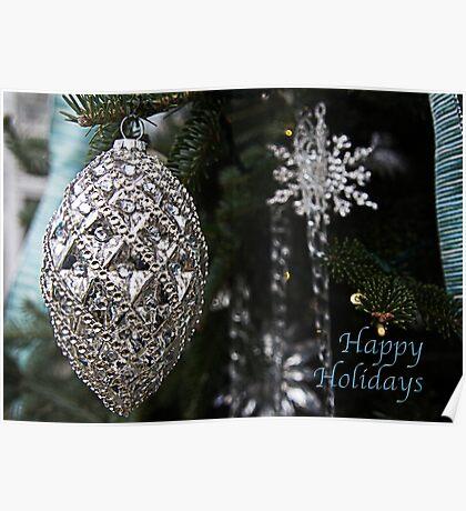 Elegant Happy Holidays Poster