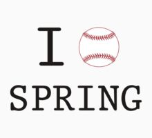 I Love Spring Baseball Kids Tee