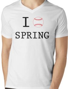 I Love Spring Baseball Mens V-Neck T-Shirt