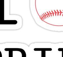 I Love Spring Baseball Sticker