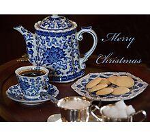 Merry Christmas Tea Party Photographic Print