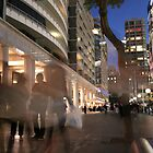 Circular Quay ~ at Dusk 2 by Emma  Wertheim~Blue Butterfly Art