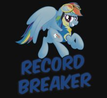 Record Breaker Shirt (My Little Pony: Rainbow Dash) by broniesunite