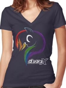 Dash X Women's Fitted V-Neck T-Shirt