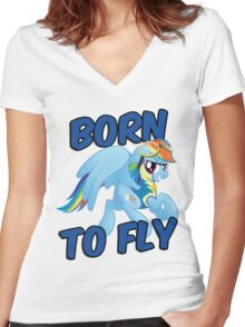 Born to Fly Shirt (Version 3) Women's Fitted V-Neck T-Shirt