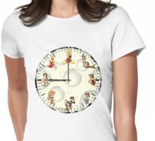 Sexy Girls Clock Womens Fitted T-Shirt