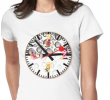 Sexy Girls Clock3 Womens Fitted T-Shirt