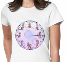 Sexy Girls Clock4 Womens Fitted T-Shirt