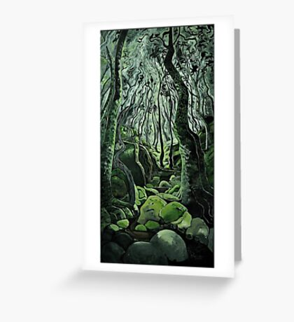 Beckoning Wood Greeting Card