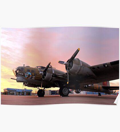 A B-17 Sunrise Poster