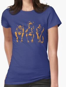 Hear. Speak. See. No Evil. Womens Fitted T-Shirt