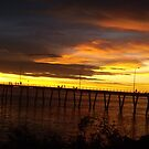 Golden Sunset - Derby Jetty WA by Rosaria