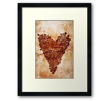 Coffee Heart Framed Print