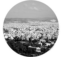 Athens - Now and Then Photographic Print