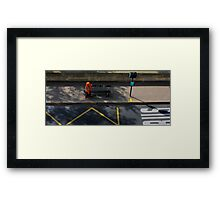 People of Paris. Bustop2 Framed Print