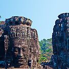 Cambodia. Angkor Thom. Bayon. Giant Stone Faces. by vadim19