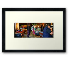 People of Paris. The bar Framed Print