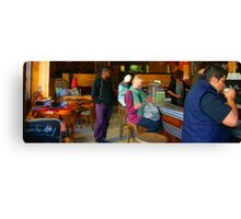 People of Paris. The bar Canvas Print