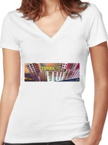 Tenex Building Women's Fitted V-Neck T-Shirt