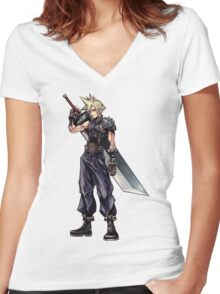 Cloud Strife Women's Fitted V-Neck T-Shirt