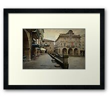Ourense. Praza do Concello Framed Print