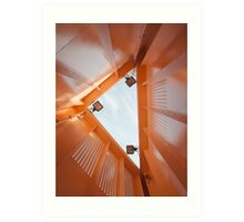 Inside an Orange Triangle Art Print