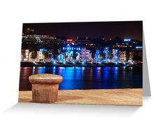 Oporto at Night Greeting Card