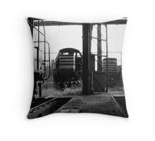 Locomotive graveyard Throw Pillow