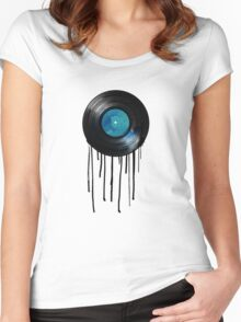 vinyl drip Women's Fitted Scoop T-Shirt