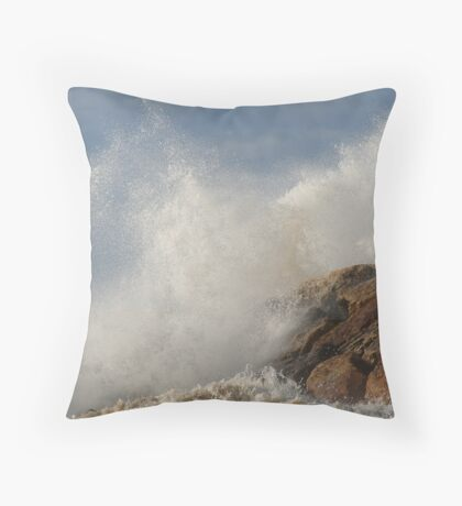 Clowds and Waves Throw Pillow