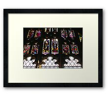 Worcester Stained Glass Framed Print