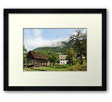 Wood Storage Building & Farm House Framed Print